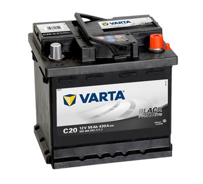 Baterie auto VARTA C20 555064042A742 Promotive Black 12V 55AH, 420A