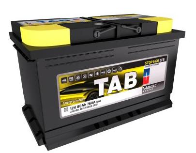 Baterie auto TAB MAGIC EFB START-STOP 12V 80AH, 760A