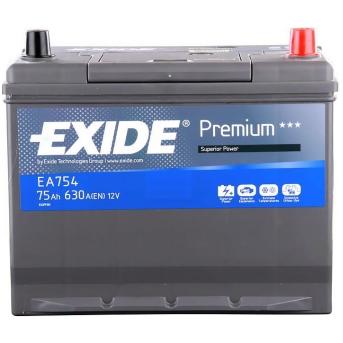 Baterie auto EXIDE EA754 PREMIUM 12V 75AH, 630A
