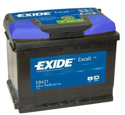 Baterie auto EXIDE EB621 EXCELL 12V 62AH, 540A