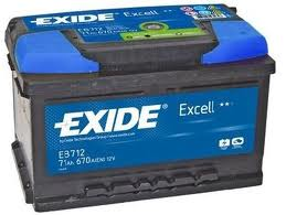 Baterie auto EXIDE EB712 EXCELL 12V 71AH, 670A