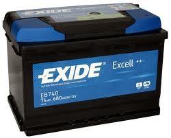 Baterie auto EXIDE EB740 EXCELL 12V 74AH, 680A