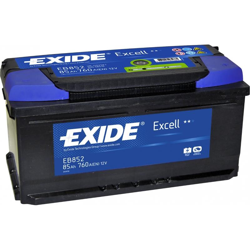 Baterie auto EXIDE EB852 EXCELL 12V 85AH, 760A