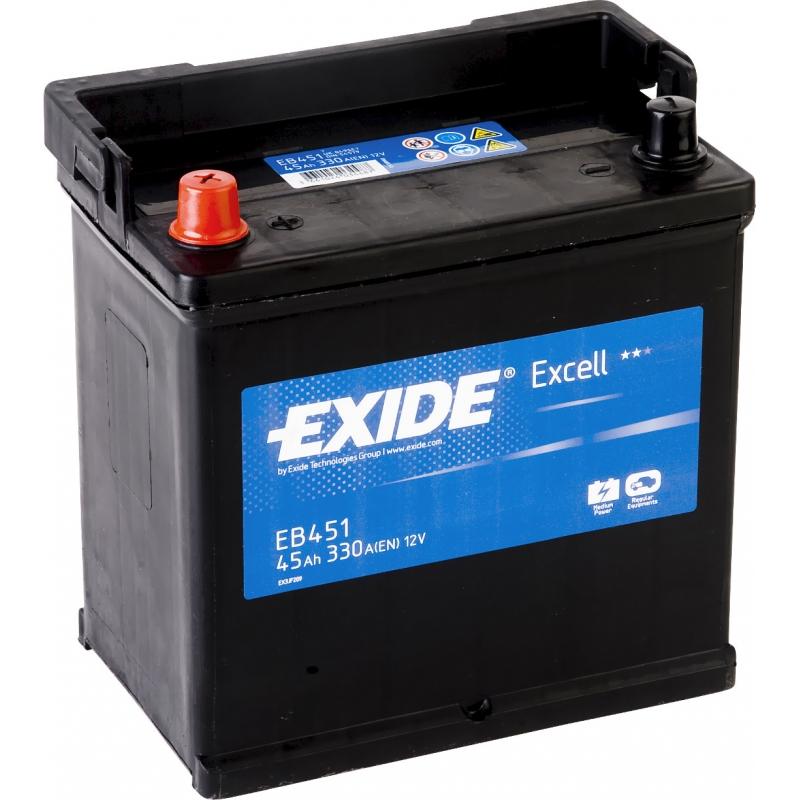 Baterie auto EB451 EXIDE EXCELL 12V 45AH, 330A