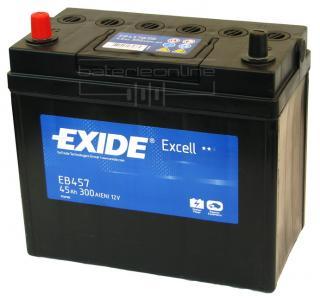 Baterie auto EXIDE EB457 EXCELL 12V 45AH, 330A