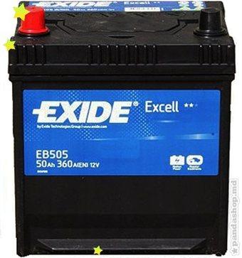 Baterie auto EXIDE EB505 EXCELL 12V 50AH, 360A