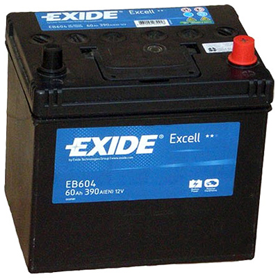 Baterie auto EXIDE EB604 EXCELL 12V 60AH, 390A