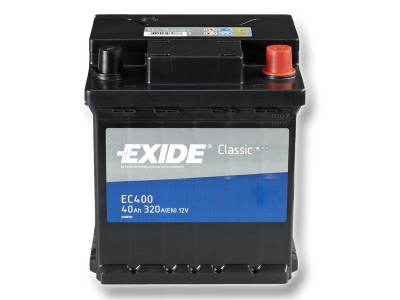 Baterie auto EXIDE EC400 CLASSIC 12V 40AH, 320A