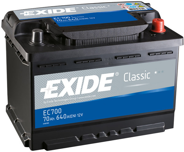 Baterie auto EXIDE EC700 CLASSIC 12V 70AH, 640A