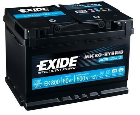 Baterie auto EXIDE EK800 AGM 12V 80AH, 800A