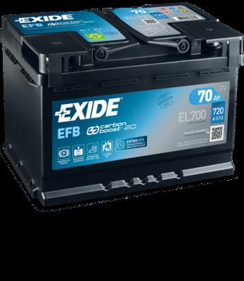 Baterie auto EXIDE EL700 ECM 12V 70AH, 720A