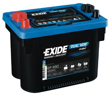 Baterie auto EXIDE EP 450 DUAL AGM 12V 50AH, 750A