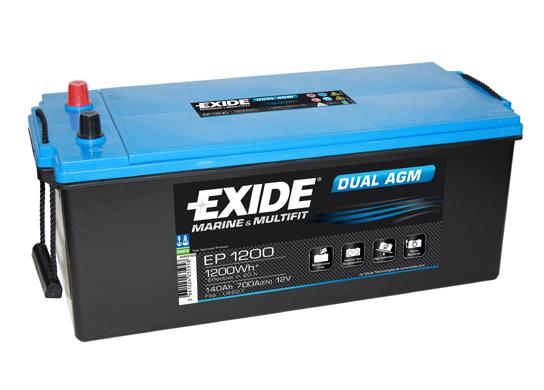 Baterie auto EXIDE EP1200 DUAL AGM 12V 140AH, 700A