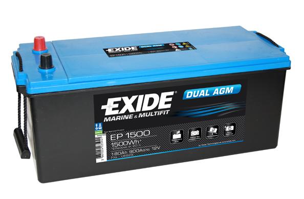 Baterie auto EXIDE EP1500 DUAL AGM 12V 180AH, 900A