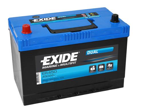 Baterie auto EXIDE ER450 DUAL 12V 95AH, 650A