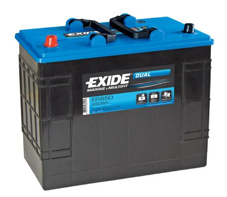 Baterie auto EXIDE ER 650 DUAL 12V 142AH, 850A