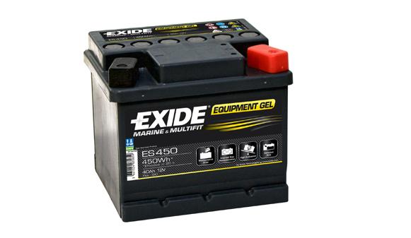 Baterie auto EXIDE ES450 EQUIPMENT GEL 12V 40AH, 280A