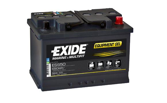 Baterie auto EXIDE ES650 EQUIPMENT GEL 12V 56AH, 410A