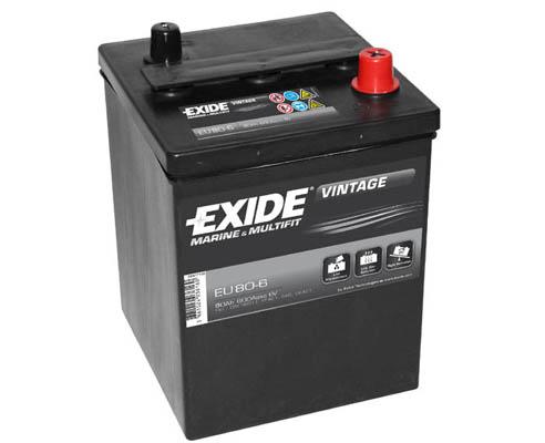 Baterie auto EXIDE EU80-6 VINTAGE 6V 80AH, 600A