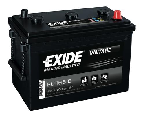Baterie auto EXIDE EU165-6 VINTAGE 6V 165AH, 900A