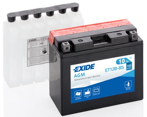 Baterie motocicleta EXIDE AGM EBYT12B-BS MAINTENANCE FREE 12V 10AH, 160A