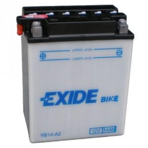 Baterie motocicleta EXIDE EBYB14-A2 CONVENTIONAL 12V 14AH, 145A