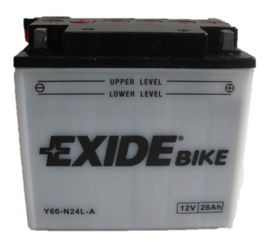 Baterie motocicleta EXIDE EBY60-N24L-A CONVENTIONAL 12V 28AH, 280A