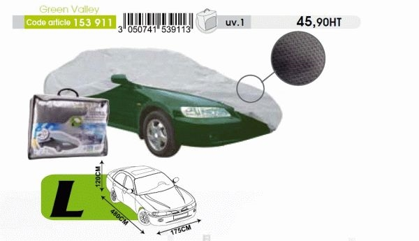 Prelata auto marime L (4,8X1,75M) GREEN VALLEY (153 911)