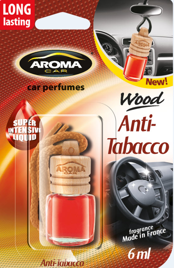 ODORIZANT MTM Aroma Car Wood Anti Tobacco 6ml