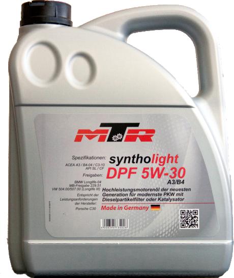 Ulei motor MTR Syntholight DPF 5W30 5L