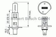 BEC AUTO BOSCH 1987302011 H1 55W 12V P14,5s