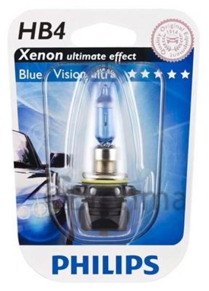 BEC AUTO PHILIPS HALOGEN White Vision 9006WHVB1 HB4 12V 55W