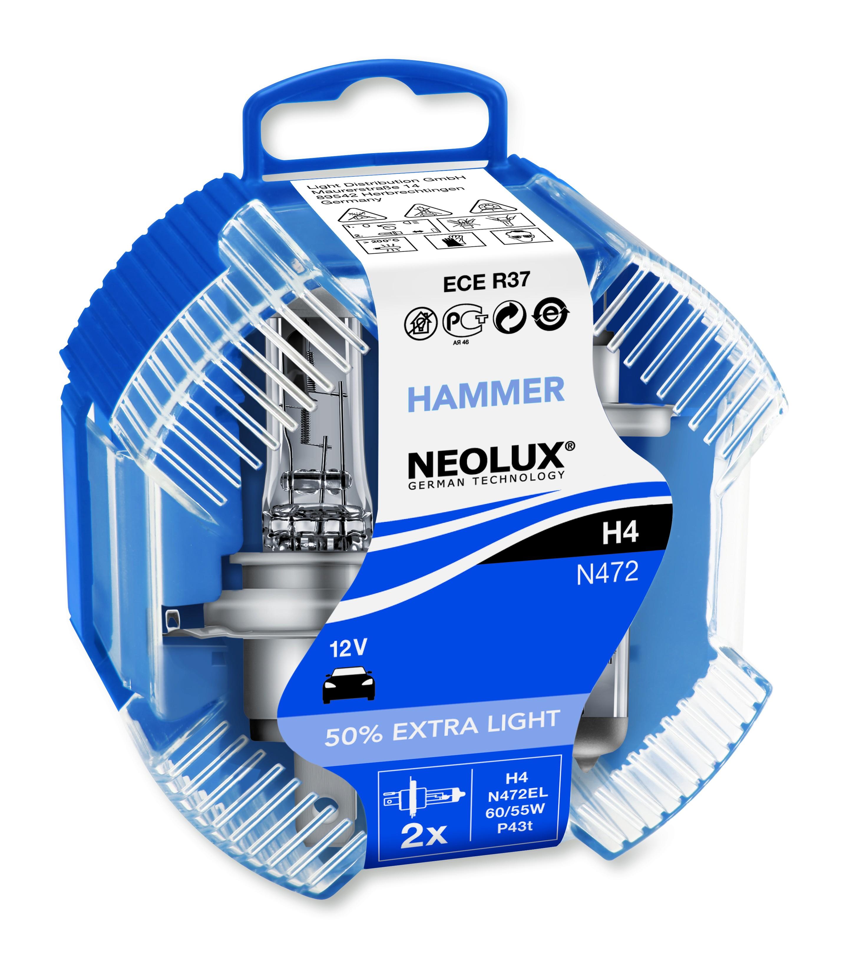 BEC AUTO HALOGEN NEOLUX N472EL H4 12V 60/55W