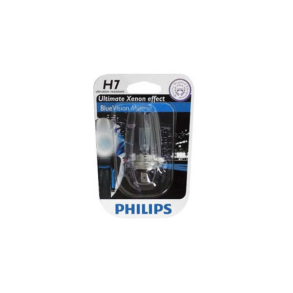 Bec moto Philips H7 BlueVision Moto 12V 55W