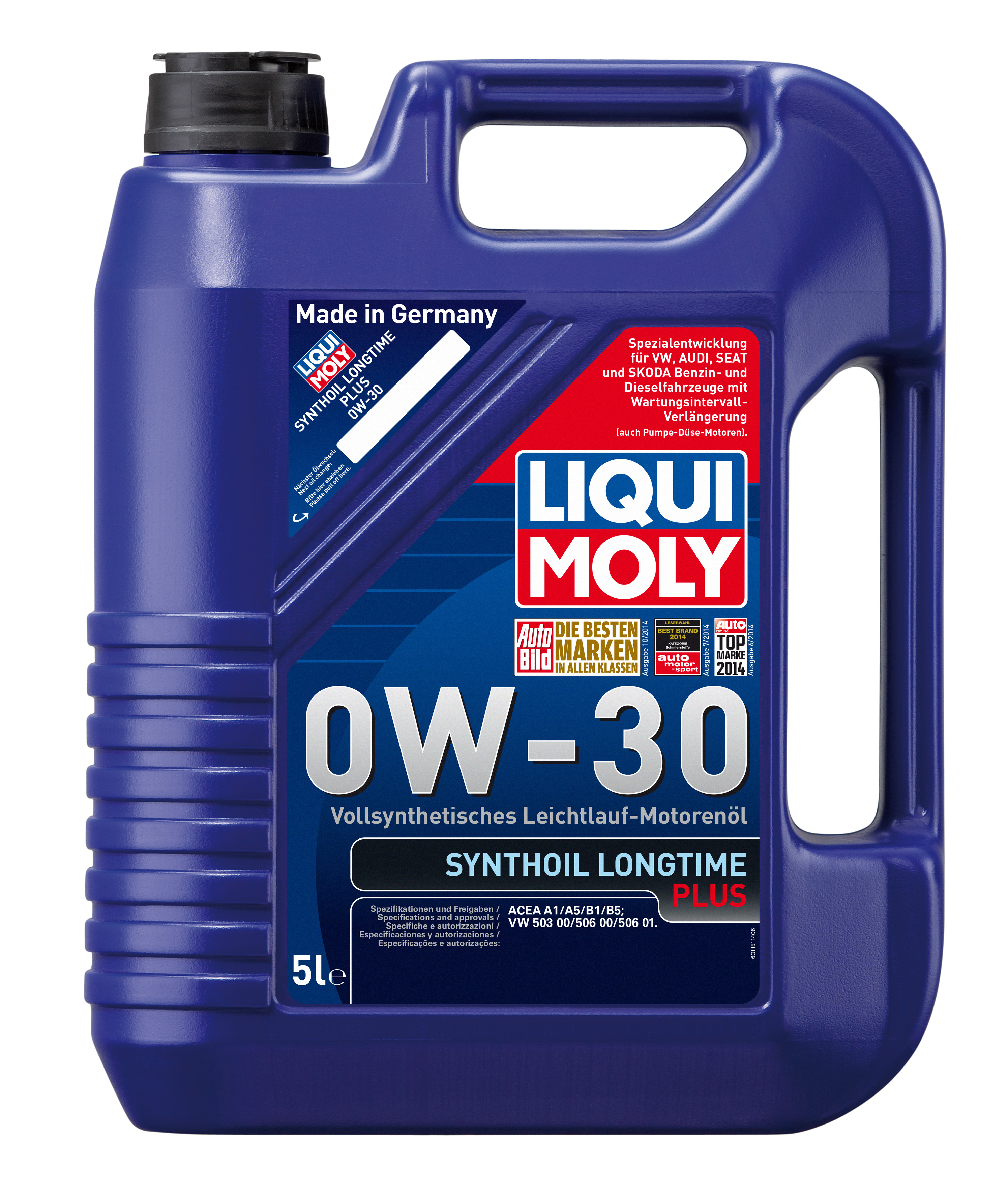 ULEI MOTOR LIQUI MOLY SYNTHOIL LONGTIME PLUS 0W30 5L