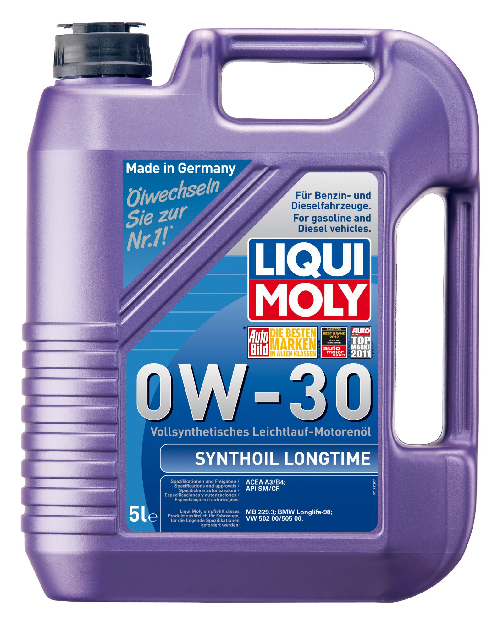 ULEI MOTOR LIQUI MOLY 1172 SYNTHOIL LONGTIME 0W30 5L