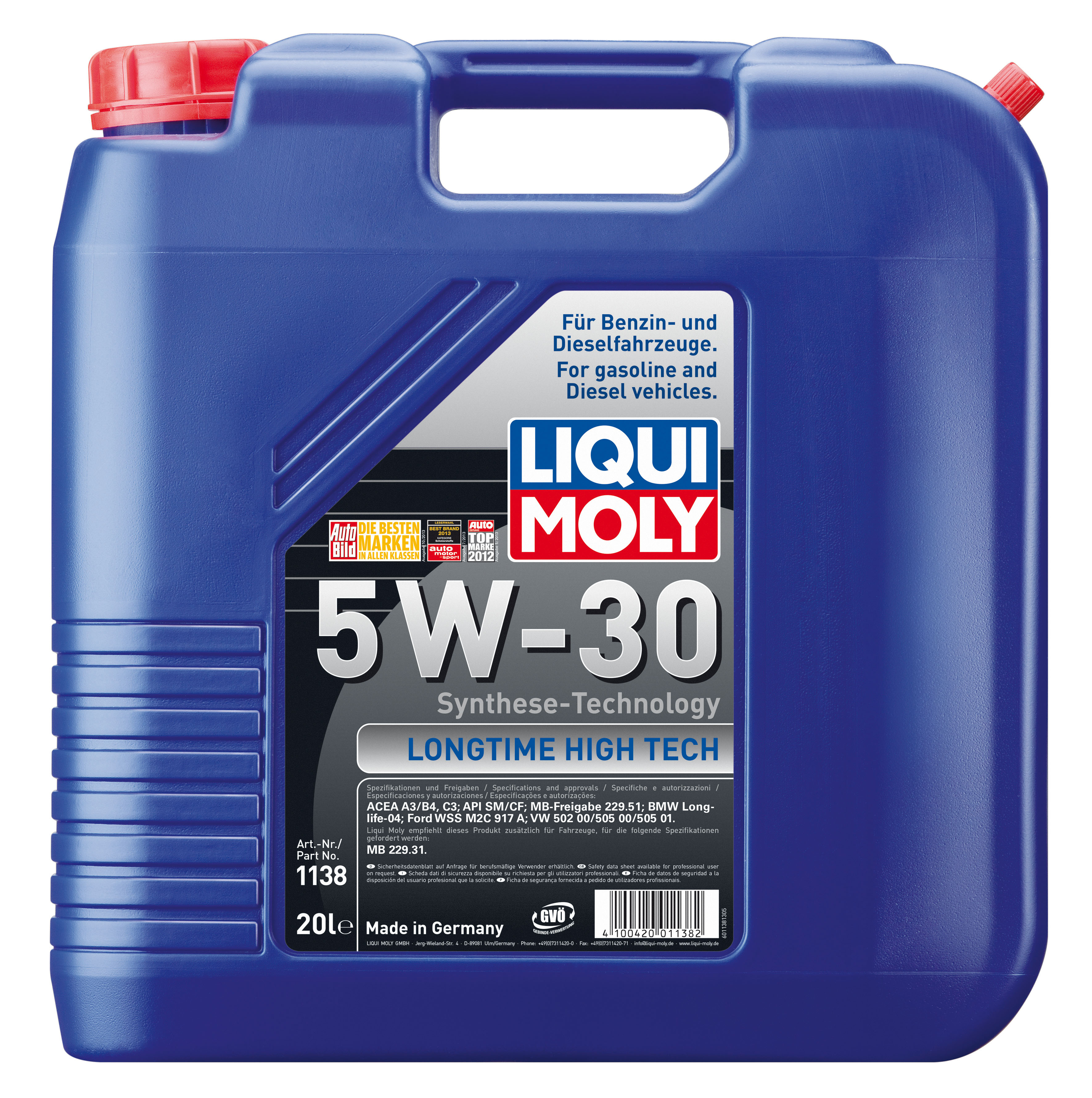 ULEI MOTOR LIQUI MOLY LONG TIME HIGH TECH 5W30 20L