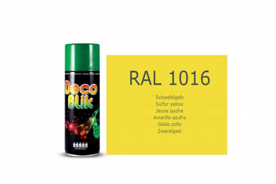 Vopsea acrilica ZOLLEX Z01016 DECO BLIK RAL 1016 Sulfur yellow 450ml
