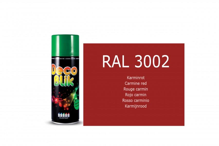 Vopsea acrilica ZOLLEX Z01032 DECO BLIK RAL 3002 Carmine red 400ML