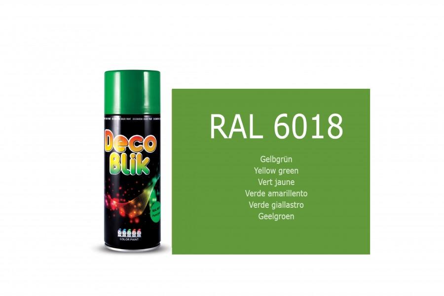Vopsea acrilica ZOLLEX Z01070 DECO BLIK RAL 6018 Yellow green 400ml