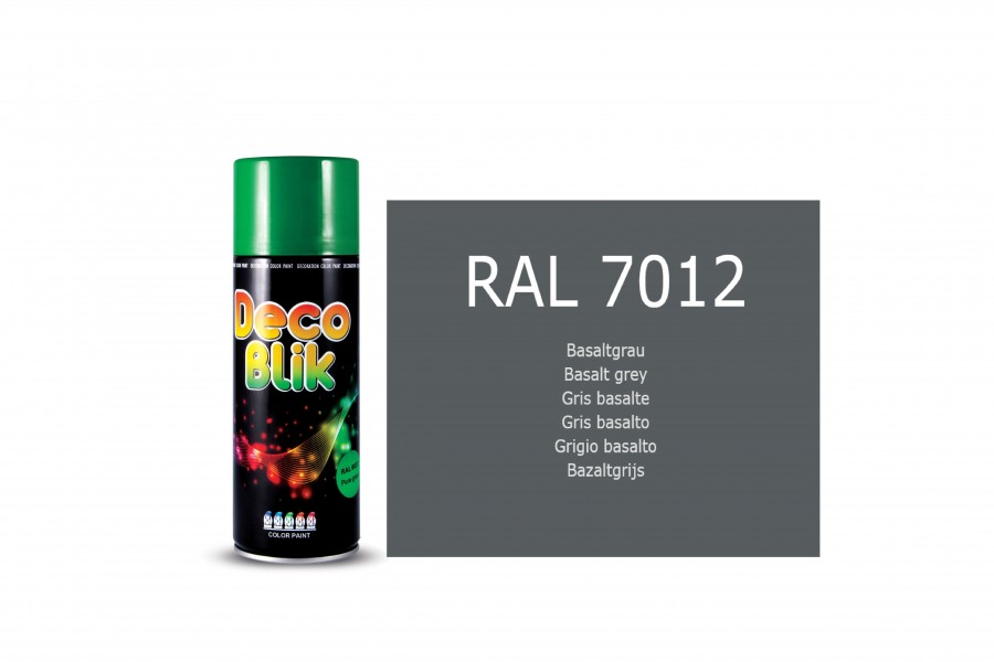 Vopsea acrilica ZOLLEX Z01080 DECO BLIK RAL 7012 Basalt grey 450ml