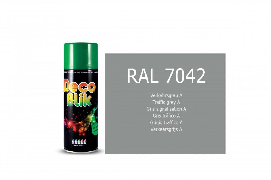 Vopsea acrilica ZOLLEX Z01089 DECO BLIK RAL 7042 Traffic grey A 450ml