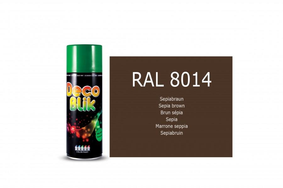 Vopsea acrilica ZOLLEX Z01096 DECO BLIK RAL 8014 Sepia brown 400ml