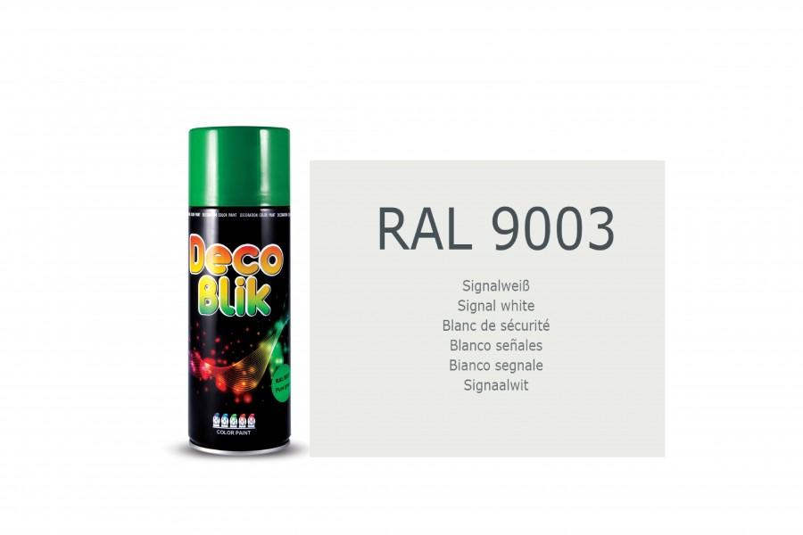 Vopsea acrilica ZOLLEX Z01102 DECO BLIK RAL 9003 Signal white 400ml