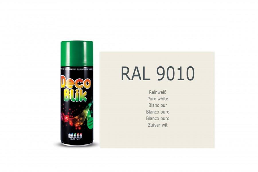 Vopsea acrilica ZOLLEX Z01107 DECO BLIK RAL 9010 White matt 400ml