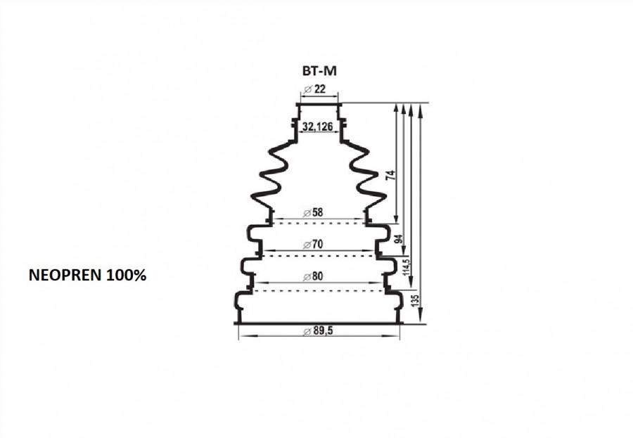 Kit burduf universal ZOLLEX Z17002 M + unsoare 65g (medium)