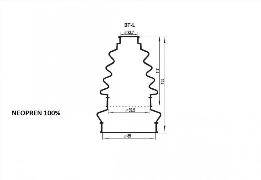Kit burduf universal ZOLLEX Z17003 L + unsoare 65g (large)