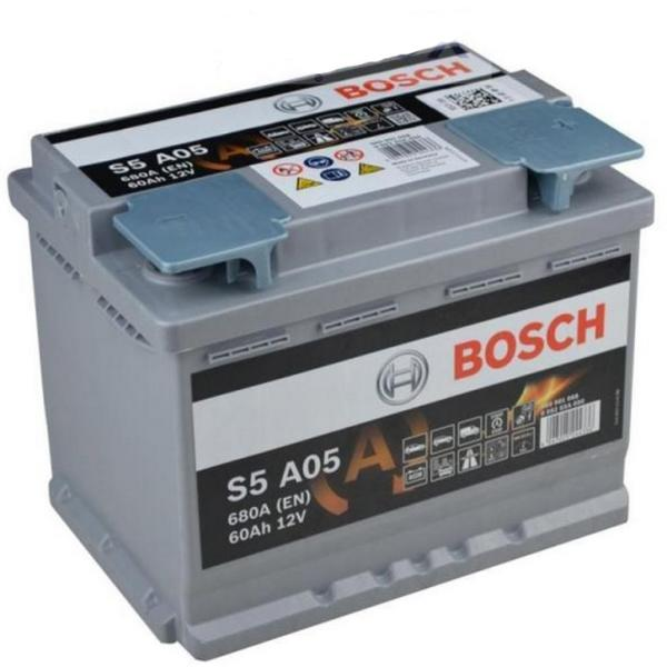 Baterie auto BOSCH 0092S5A050 S5 AGM 12V 60AH 680A