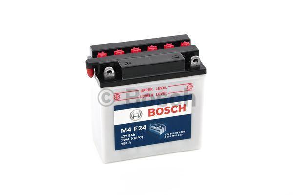 Baterie moto BOSCH 0092M4F240 M4 Fresh Pack 12V 8AH 110A