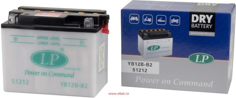 Baterie motocicleta LANDPORT LP YB12B-B2 DRY POWER ON COMMAND 12V 13AH